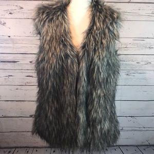 Nicole Miller Faux Fur Vest